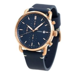 Reloj FOSSIL FS5404 Cuero Azul Para Hombre